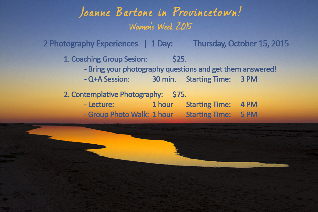 Provincetown Photography Workshops by Joanne Bartone